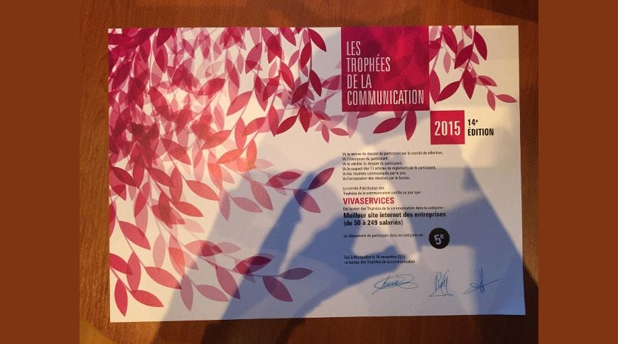 VIVASERVICES lauréat aux Trophées de la communication