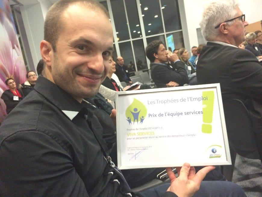 L'agence Saint-Priest gagne le trophée de l'emploi 2014