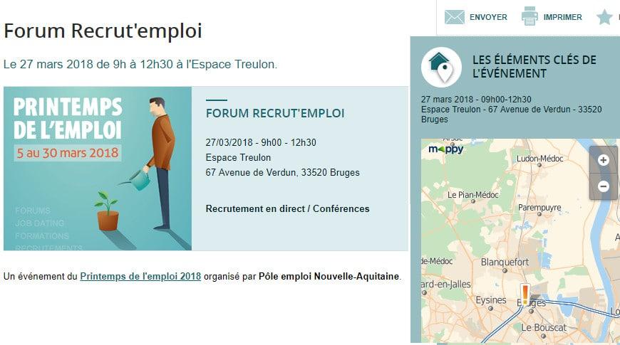Forum Recrut' Emploi Bruges (33 – Gironde)