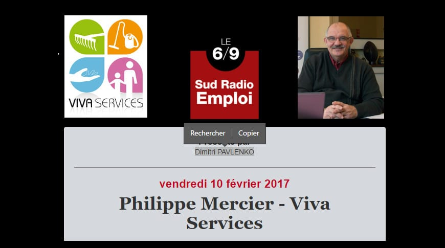 Philippe Mercier parle d'emploi à Sud Radio